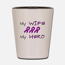 Hero Wife Purple.png Shot Glass