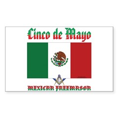 Cinco De Mayo Sticker (Rectangle)
