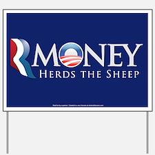 RMoney Herds the Sheep Yard Sign