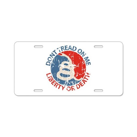 Don't Tread on Me Aluminum License Plate