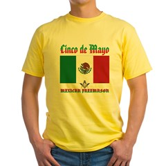 Cinco De Mayo Mason Yellow T-Shirt