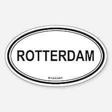 Rotterdam, Netherlands euro Oval Decal
