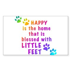 HappyIsTheHomeBlessed-PAWS.png Decal