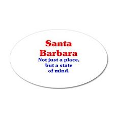 Santa Barbara State 22x14 Oval Wall Peel