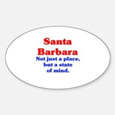Santa Barbara State Sticker (Oval)