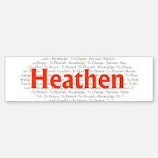 Heathen Code Bumper Bumper Bumper Sticker