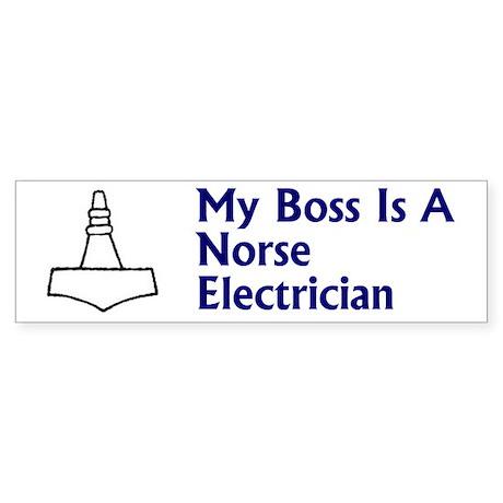 Norse Electrician Sticker 1 (Bumper)