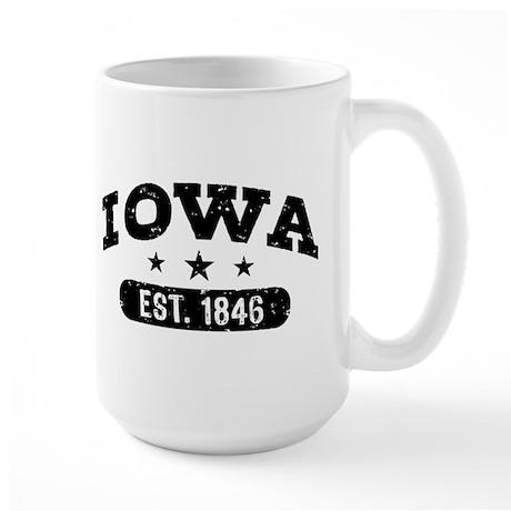 Iowa Est. 1846 Large Mug