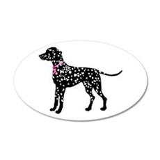 Dalmatian Breast Cancer Support 22x14 Oval Wall Pe
