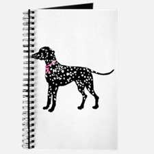 Christmas or Holiday Dalmatian Silhouette Journal