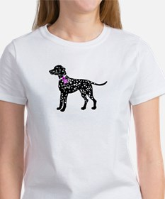 Dalmation Breast Cancer Suppo Women's T-Shirt