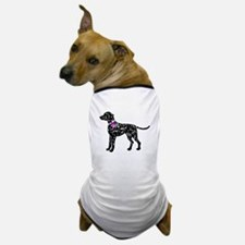 Dalmation Breast Cancer Suppo Dog T-Shirt