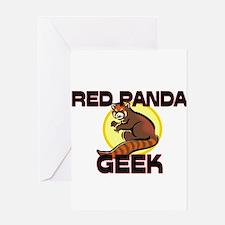 Red Panda Geek Greeting Cards