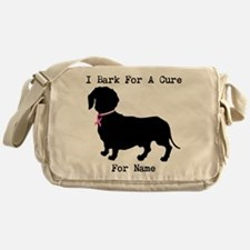 Dachshund Personalizable I Bark For A Cure Messeng