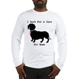 Dachshund breast cancer Long Sleeve T-shirts