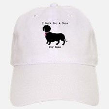 Dachshund Personalizable I Bark For A Cure Baseball Baseball Cap