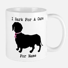 Dachshund Personalizable I Bark For A Cure Mug