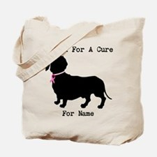 Dachshund Personalizable I Bark For A Cure Tote Ba