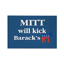 Mitt Will Kick ... Rectangle Magnet