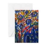 city life abstract Greeting Cards (Pk of 10)