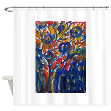 city life abstract shower curtain by petartbyangie