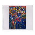 city life abstract Throw Blanket