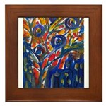 city life abstract Framed Tile