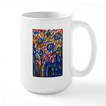 city life abstract Large Mug