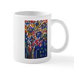 city life abstract Mug