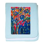 city life abstract baby blanket