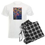 city life abstract Men's Light Pajamas