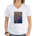city life abstract Women's V-Neck T-Shirt