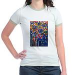 city life abstract Jr. Ringer T-Shirt