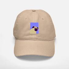 Blue Pug Baseball Baseball Cap