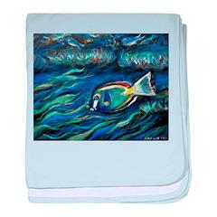 aquarium baby blanket