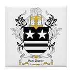 Van Duren Coat of Arms Tile Coaster