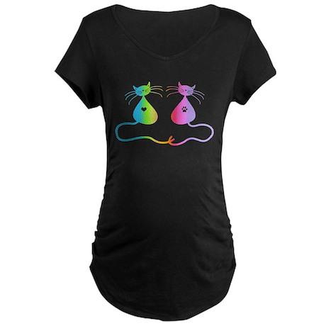 Cats Maternity Dark T-Shirt