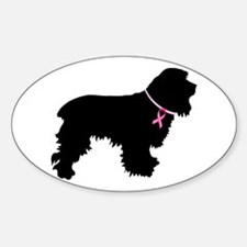 Cocker Spaniel Breast Cancer Support Decal