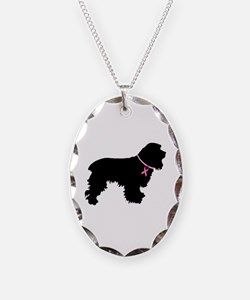 Cocker Spaniel Breast Cancer Support Necklace