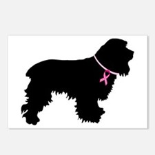 Cocker Spaniel Breast Cancer Support Postcards (Pa