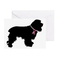 Cocker Spaniel Breast Cancer Support Greeting Card
