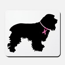 Cocker Spaniel Breast Cancer Support Mousepad