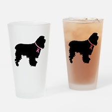 Cocker Spaniel Breast Cancer Support Drinking Glas