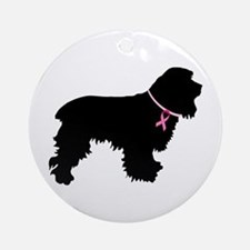 Cocker Spaniel Breast Cancer Support Ornament (Rou