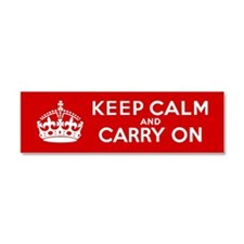 Keep Calm and Carry On Car Magnet 10 x 3