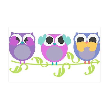 see hear speak no evil owls 38.5 x 24.5 Wall Peel