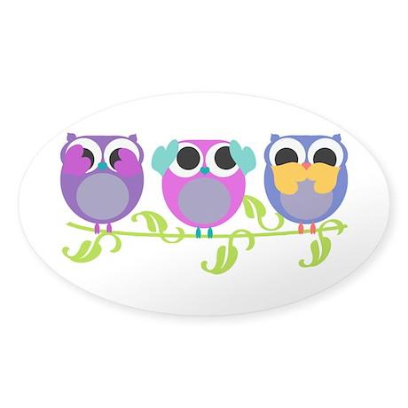 See Hear Speak No Evil Owls Decal By Optdesignsliltots