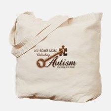 Au-some Mom Unlocking Autism Tote Bag