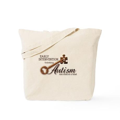 E.I. Unlocks Autism Tote Bag