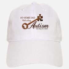 Au-some Dad Unlocking Autism Baseball Baseball Cap